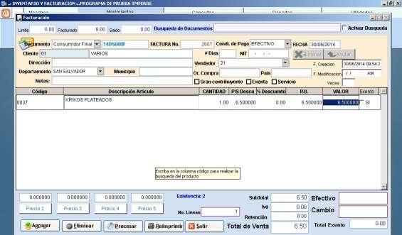 Fotos de Sistema de inventario y facturación para farmacias 3