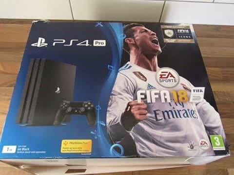 Playstation 4 ps4 pro 1tb console + controladores fifa 18 + 2